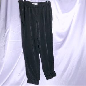Joie Black Cupro Silky Jogger Pants